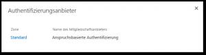 Authentifizierungsanbieter - Anspruchsbasierte Authentifizierung - Webanwendungen SharePoint 2013