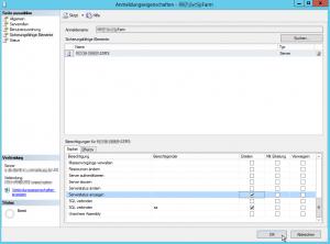 SQL-Server - Anmeldungseigenschaften - Serverstatus anzeigen erteilen