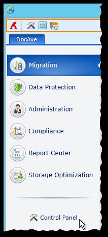 DocAve 6 GUI - Control Panel