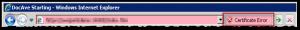 Internet Explorer - Certificate Error - Button
