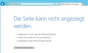 Internet-Explorer - Die Seite kann nicht angezeigt werden