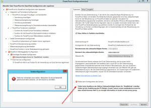 PowerPivot-Konfigurationstool - Unbeaufsichtigtes Konto für 'DataRefresh' erstellen - Cannot create unattended account for data refresh because there is no enough information to locate current proxy group