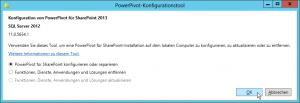 PowerPivot-Konfigurationstool - Konfiguration von PowerPivot für SharePoint 2013 - SQL Server 2012 - PowerPivot für SharePoint konfigurieren oder reparieren