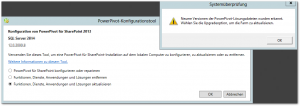 PowerPivot-Konfigurationstool - PowrPivot Configuration Tool - Funktionen, Dienste, Anwendungen und Lösungen aktualisieren - Upgrade Features, Services, Applications and Solutions
