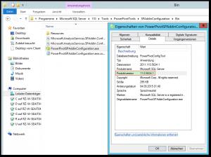 PowerPivotSPAddinConfiguration.exe - Eigenschaften - Produktversion