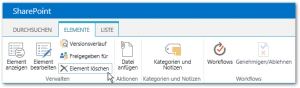 Probleme und Lösungen überprüfen - Elemente - Element löschen - Menü Band Button - Health Analyzer - SharePoint 2013