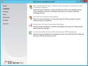 SQL Server 2012 - Installationscenter - Installation