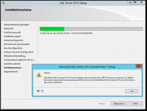SQL Server 2012-Setup - PowerPivot Fehler - SharePoint-BI-Lösung für Microsoft Analysis Services erfordert .NET Framework Version 2.0