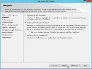 SQL Server 2012-Setup - SQL Server PowerPivot für SharePoint