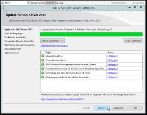 SQL Server 2012-Update installieren - CU8 - PowerPivot