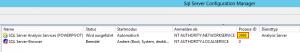 SQL Server Configuration Manager - Prozess-ID der PowerPivot-Instanz