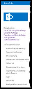 Zentraladministration - Überwachung - Auftragsstatus überprüfen - Zeitgeberlinks (Timer Jobs) - SharePoint 2013