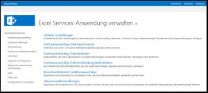 Zentraladministration - Dienstanwendungen verwalten - Excel Services-Anwendung verwalten - SharePoint 2013