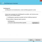 Zertifikatimport-Assistent - Vertrauenswürdige Stammzertifizierungsstellen