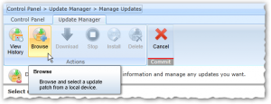 DocAve 6 - Control Panel - Update Manager - Manage Updates - Browse Button