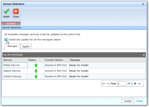 DocAve 6 - Update Manager - Server Selection - Manager Install