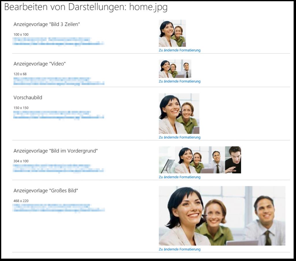 Image Renditions - BEARBEITEN VON FORMATVARIANTEN - Bearbeiten von Darstellungen - optimiert - SharePoint 2013