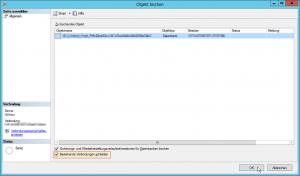 SQL Server Management Studio - Objekt löschen - Bestehende Verbindungen schließen Button