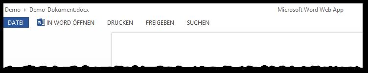Office Web Apps - Dokument Anzeige - Button zum Bearbeiten nicht vorhanden - OWA