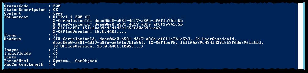 Office Web Apps - PowerShell Invoke-WebRequest - participant.svc-jsonAnonymous - StatusCode 200 - Content OK