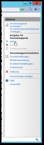 Internetinformationsdienste (IIS)-Manager - Anwendungspools - Aktionen - Aufgaben für Anwendungspools - Starten - Button
