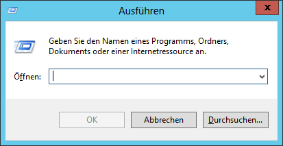 Windows - Ausführen - Run