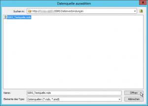 Report Builder - Datenquelle auswählen - rsds - smdl - SharePoint 2013 - SSRS