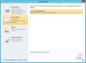 Report Builder - Erste Schritte - Datenquellenverbindung - rsds - smdl - Erstellen Button - SharePoint 2013 - SSRS