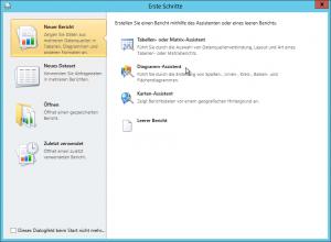 Report Builder - Erste Schritte - Neuer Bericht - Diagramm-Assistent Button - SharePoint 2013 - SSRS