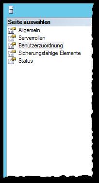 SSMS - SQL Server Management Studio 2012 - Sicherheit - Anmeldungen - Benutzer - Anmeldungseigenschaften - Benutzerzuordnung