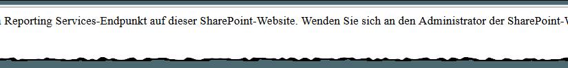 Kommunikationsfehler beim Reporting Services-Endpunkt auf dieser SharePoint-Website