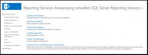 ZA - Dienstanwendungen verwalten - Reporting Services-Anwendung verwalten - SQL Server Reporting Services - Systemeinstellungen - Aufträge verwalten - Schlüsselverwaltung - Ausführungskonto - E-Mail - Abonnements und Warnungen - SSRS - SharePoint 2013