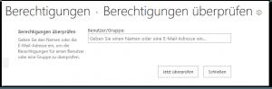 Check Permissions - Berechtigungen überprüfen - _layouts-chkperm.aspx - SharePoint 2013