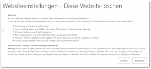 Delete This Site - Diese Website löschen - _layouts-deleteweb.aspx - SharePoint 2013
