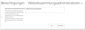 Manage Site Collection Administrators - Berechtigungen Websitesammlungsadministratoren - _layouts-mngsiteadmin.aspx - SharePoint 2013