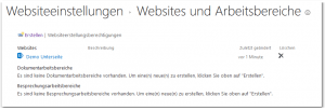 Manage Sites and Workspaces - Websiteeinstellungen - Websites und Arbeitsbereiche - _layouts-mngsubwebs.aspx - SharePoint 2013