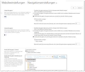 Navigation (Navigationseinstellungen) - Navigation (Navigation Settings) - _layouts-AreaNavigationSettings.aspx - SharePoint 2013