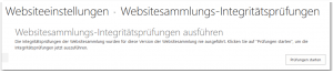 Site Collection Health Checks - Websitesammlungs-Integritätsprüfungen - _layouts-sitehealthcheck.aspx - SharePoint 2013