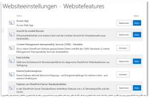 Site Features - Manage site features - Websitefeatures - _layouts-ManageFeatures.aspx - SharePoint 2013