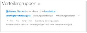 ZA - Approve or reject distribution groups - Verteilergruppen genehmigen oder ablehnen - Lists-Verteilergruppen - SharePoint 2013