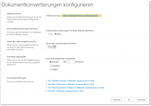 ZA - Configure document conversions - Dokumentkonvertierungen konfigurieren - _admin-DocTransAdmin.aspx - SharePoint 2013