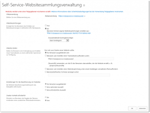 ZA - Configure self-service site creation - Self-Service Site Creation konfigurieren - _admin-ConfigSSC.aspx - SharePoint 2013