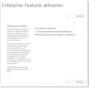 ZA - Enable Enterprise Features - Enterprise-Features aktivieren - _admin-SkuUpgrade.aspx - SharePoint 2013