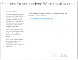 ZA - Enable Features on Existing Sites - Features für vorhandene Websites aktivieren - _admin-enablefeatures.aspx - SharePoint