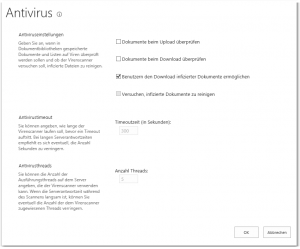 ZA - Manage antivirus settings - Antiviruseinstellungen verwalten - _admin-AVAdmin.aspx - SharePoint 2013