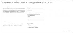 ZA - Recover data from an unattached content database - Daten aus einer nicht angefügten Inhaltsdatenbank wiederherstellen - _admin-UnattachedDbSelect.aspx - SharePoint 2013