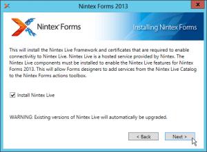 Nintex Workflow 2013 und Nintex Forms 2013 Installation - Nintex Forms 2013 - Installing Nintex Forms - Install Nintex Live