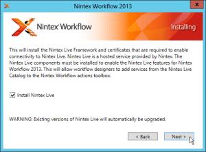 Nintex Workflow 2013 und Nintex Forms 2013 Installation - Nintex Workflow 2013 - Installing - Install Nintex Live