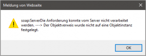 Nintex Workflow - Meldung von Website - soap:ServerDieAnforderung konnte vom Server nicht verarbeitet werden. ---> Der Objektverweis wurde nicht auf eine Objektinstanz festgelegt - Message from webpage - soap:ServerServer was unable to process reques. ---> Object reference not set to an instance of an object