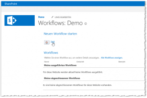 Websiteinhalte - WEBSITE-WORKFLOWS - Test Workflow - öffnen - SharePoint 2013